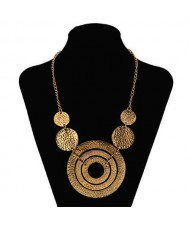 Giant Rounds Design Bold Fashion Women Bib Necklace