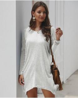 Casual Design Long Sleeves Winter Fashion Women Shirt/ Top - White