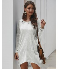 Casual Design Long Sleeves Winter Fashion Women Shirt/ Top - White