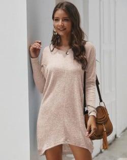 Casual Design Long Sleeves Winter Fashion Women Shirt/ Top - Pink