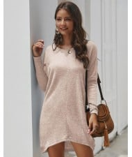 Casual Design Long Sleeves Winter Fashion Women Shirt/ Top - Pink