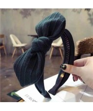 Cloth Bowknot Graceful Style Korean Fashion Women Hair Hoop - Green