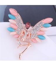 Happy Angel Opal Fashion Alloy Brooch
