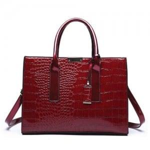 (3 Colors Available) Crocodile Texture Luxurious Design High Fashion Women Handbag/ Shoulder Bag