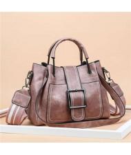 (3 Colors Available) Vintage Stitching Design Women Handbag/ Shoulder Bag