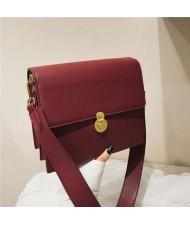 (5 Colors Available) Korean Fashion Square Simple Design Women PU Shoulder Bag