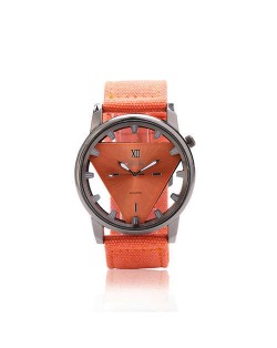 Unique Triangle Index Design High Fashion Men Watch - Orange