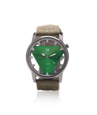 Unique Triangle Index Design High Fashion Men Watch - Green