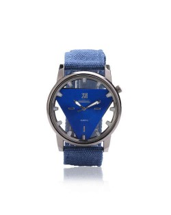 Unique Triangle Index Design High Fashion Men Watch - Blue