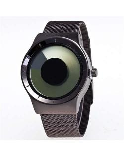 Unique Vortex High Fashion Stainless Steel Wrist Watch - Green