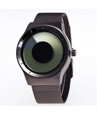 Unique Vortex High Fashion Stainless Steel Wrist Watch - Green