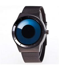 Unique Vortex High Fashion Stainless Steel Wrist Watch - Blue