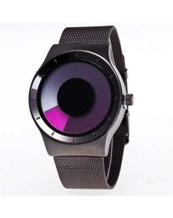 Unique Vortex High Fashion Stainless Steel Wrist Watch - Rose