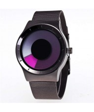 Unique Vortex High Fashion Stainless Steel Wrist Watch - Rose