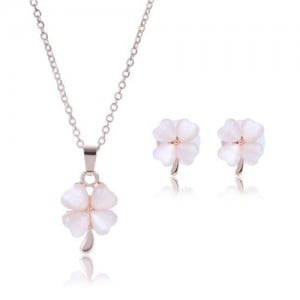 Graceful Flowers Design High Fashion Alloy Jewelry Set