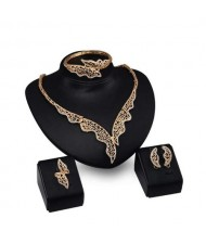 Creative Royal Design High Fashion Women 4pcs Costume Jewelry Set