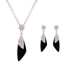 Crystal Embellished Graceful Women Jewelry Set