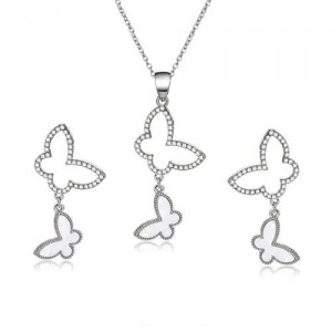 Butterflies Combo Design High Fashion Alloy Jewelry Set