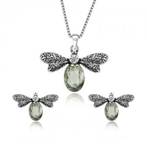 Vintage Insects High Fashion Women Statement Jewelry Set