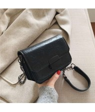 (4 Colors Available) Assorted Cute Elements Embossed with Black Buckle Korean Fashion Women Shoulder Bag
