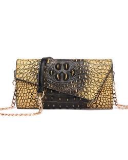 (6 Colors Available) Crocodile Skin Texture Graceful Design Women Evening Handbag/ Shoulder Bag