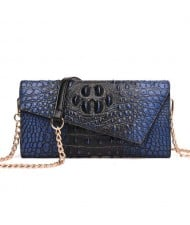 (6 Colors Available) Crocodile Skin Texture Graceful Design Women Evening Handbag/ Shoulder Bag