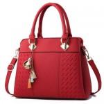 (6 Colors Available) Flower Tassel Design Elegant Women Totebag/ Shoulder Bag