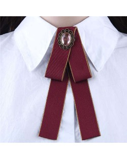 Floral Decoration Cloth Fashion Women Brooch - Red