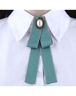 Floral Decoration Cloth Fashion Women Brooch - Green