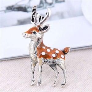 Sika Deer Design Korean Fashion Alloy Women Brooch