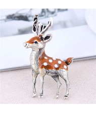 Sika Deer Design Korean Fashion Alloy Women Brooch
