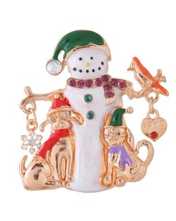 Snowman Christmas Style High Fashion Alloy Women Brooch