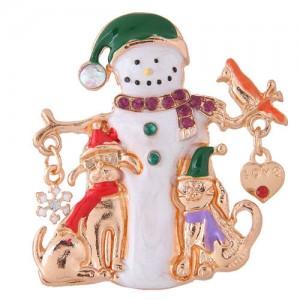 Snowman Christmas Style High Fashion Alloy Women Brooch
