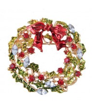 Vine and Flower Hoop Style Christmas Fashion Alloy Women Brooch