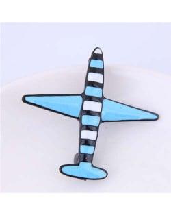 Oil-spot Glazed Plane Design Alloy Women Brooch