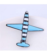 Oil-spot Glazed Plane Design Alloy Women Brooch