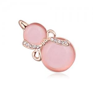 Opal Gourd Design Gold Plated Fashion Women Brooch - Light Pink