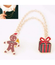 Clown and Gift Chain Design Fashion Alloy Women Brooch