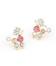 Cute Lap-dog Design Czeche Rhinestone Korean Fashion Earrings