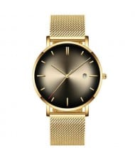 10 Colors Available Starry Night Index Basic Design Men Fashion Stainless Steel Wrist Watch