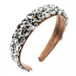 Glistening Rhinestone Embellished Bold High Fashion Cloth Women Hair Hoop