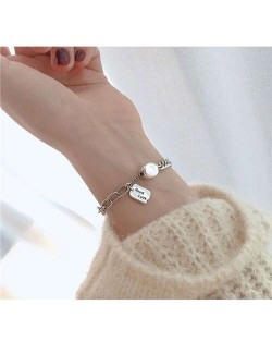 Vintage Thai Fashion Good Luck Women White Copper Bracelet