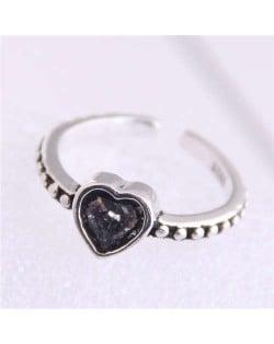 Vintage Fashion Heart Design Adjustable Size Copper Ring