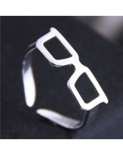 Cute Sunglasses Design Korean Fashion Adjustable Size Copper Ring