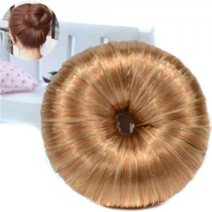 Hair Buns Style Synthetic Hair Korean Fashion Women Hair Band - Golden