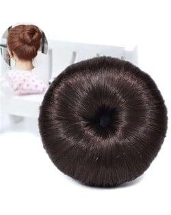 Hair Buns Style Synthetic Hair Korean Fashion Women Hair Band - Natural Color