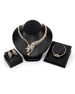 Luxurious Style Tiger Design 3pcs High Fashion Women Jewelry Set