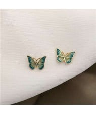 Vintage Design Delicate Butterfly Women Graceful Fashion Alloy Earrings