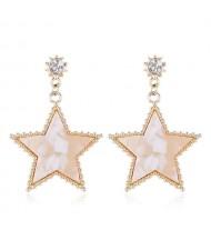 Elegant Pentagram High Fashion Women Costume Earrings