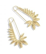 Golden Leaves Pin Design Online Star High Fashion Women Alloy Costume Earrings